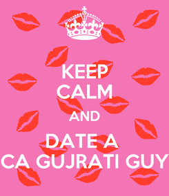 Poster: KEEP CALM AND DATE A  CA GUJRATI GUY