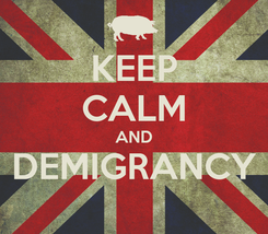 Poster: KEEP CALM AND DEMIGRANCY