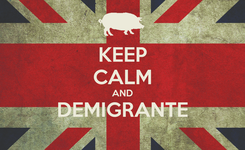 Poster: KEEP CALM AND DEMIGRANTE