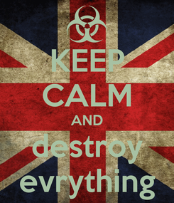 Poster: KEEP CALM AND destroy evrything