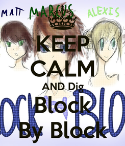 Poster: KEEP CALM AND Dig Block By Block