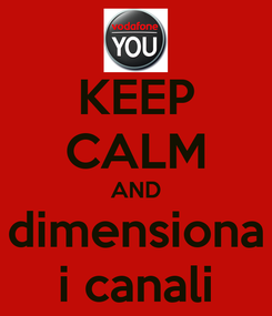 Poster: KEEP CALM AND dimensiona i canali