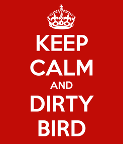 Poster: KEEP CALM AND DIRTY BIRD