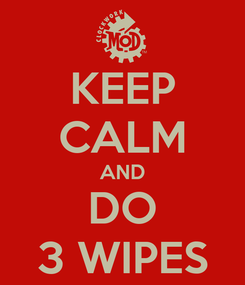 Poster: KEEP CALM AND DO 3 WIPES