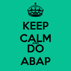 Poster: KEEP CALM AND DO ABAP