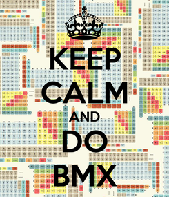Poster: KEEP CALM AND DO BMX