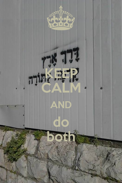 Poster: KEEP CALM AND do both