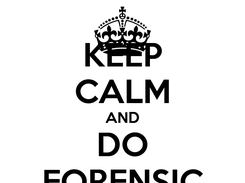 Poster: KEEP CALM AND DO FORENSIC