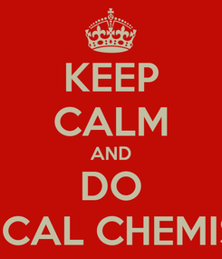 Poster: KEEP CALM AND DO MEDICAL CHEMISTRY