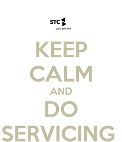 Poster: KEEP CALM AND DO SERVICING