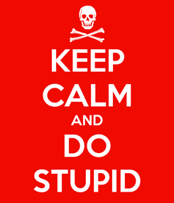 Poster: KEEP CALM AND DO STUPID