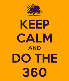 Poster: KEEP CALM AND DO THE 360