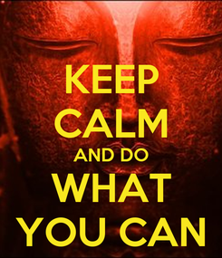 Poster: KEEP CALM AND DO WHAT YOU CAN