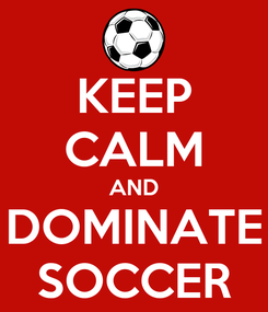 Poster: KEEP CALM AND DOMINATE SOCCER