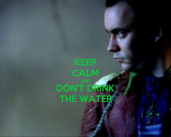 Poster: KEEP CALM AND DON'T DRINK THE WATER