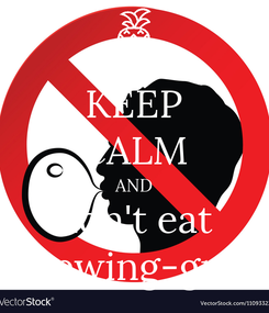 Poster: KEEP CALM AND don't eat chewing-gum