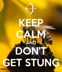 Poster: KEEP CALM AND DON'T GET STUNG