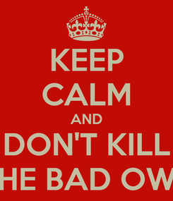 Poster: KEEP CALM AND DON'T KILL THE BAD OWL