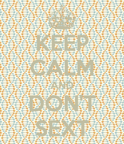 Poster: KEEP CALM AND DON'T SEXT