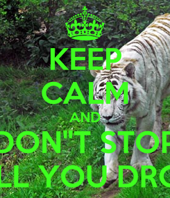 "Poster: KEEP CALM AND DON""T STOP TILL YOU DROP"