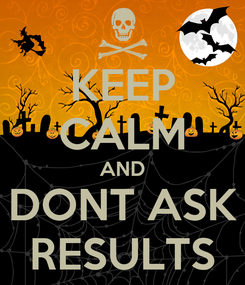 Poster: KEEP CALM AND DONT ASK RESULTS