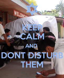 Poster: KEEP CALM AND  DONT DISTURB THEM