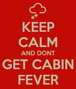 Poster: KEEP CALM AND DONT GET CABIN FEVER
