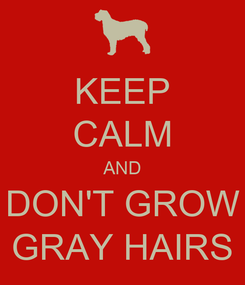 Poster: KEEP CALM AND DON'T GROW GRAY HAIRS