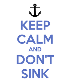 Poster: KEEP CALM AND DON'T SINK