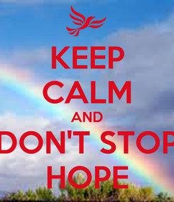 Poster: KEEP CALM AND DON'T STOP HOPE