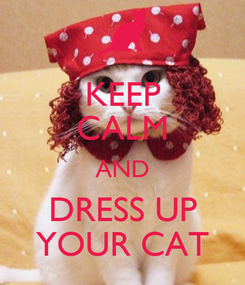 Poster: KEEP CALM AND DRESS UP YOUR CAT