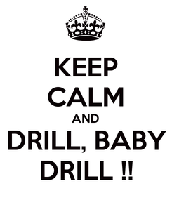 Poster: KEEP CALM AND DRILL, BABY DRILL !!
