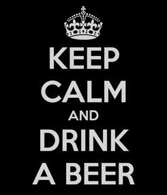 Poster: KEEP CALM AND DRINK A BEER