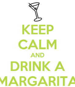 Poster: KEEP CALM AND DRINK A MARGARITA