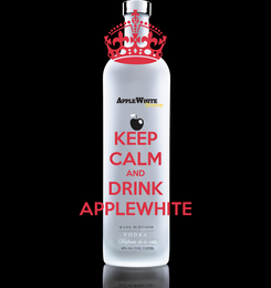 Poster: KEEP CALM AND DRINK APPLEWHITE