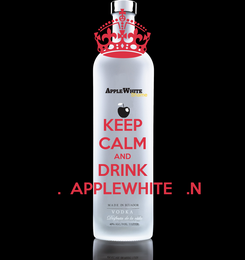 Poster: KEEP CALM AND DRINK    .  APPLEWHITE   .N