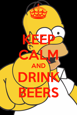 Poster: KEEP CALM AND DRINK BEERS