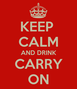 Poster: KEEP  CALM AND DRINK CARRY ON
