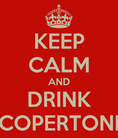 Poster: KEEP CALM AND DRINK COPERTONI