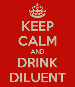Poster: KEEP CALM AND DRINK DILUENT