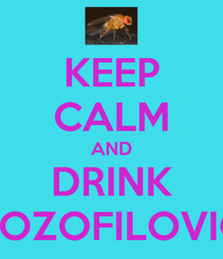 Poster: KEEP CALM AND DRINK DROZOFILOVICA
