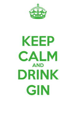 Poster: KEEP CALM AND DRINK GIN