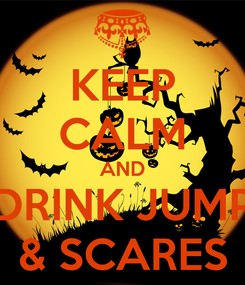 Poster: KEEP CALM AND DRINK JUMP & SCARES