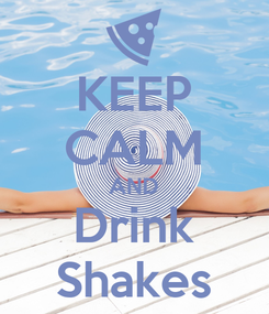 Poster: KEEP CALM AND Drink Shakes