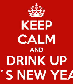 Poster: KEEP CALM AND DRINK UP IT´S NEW YEAR