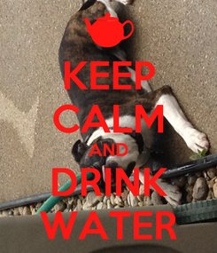 Poster: KEEP CALM AND DRINK WATER