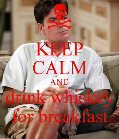 Poster: KEEP CALM AND drink whiskey for breakfast
