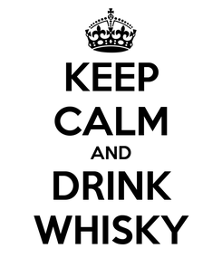 Poster: KEEP CALM AND DRINK WHISKY