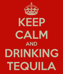 Poster: KEEP CALM AND DRINKING TEQUILA