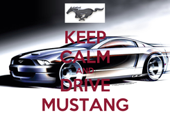 Poster: KEEP CALM AND DRIVE MUSTANG